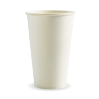 510ml / 16oz (90mm) White Single Wall BioCup Ctn 1000pcs